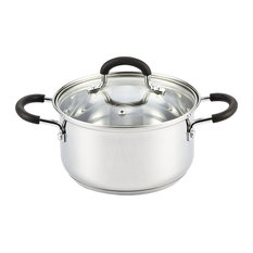 Cook N Home Stainless Steel Casserole With Lid, 2.7 Quart