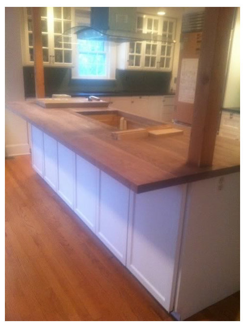 wood butcher block countertops floor decor.htm wooden island overhang support  pic   wooden island overhang support  pic