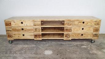 XXL Paletten Sideboard / Sideboard aus Paletten