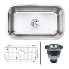 "Ruvati - Rvm4250 Undermount 16 Gauge 30"" Kitchen Sink, Single Bowl - Kitchen Sinks"