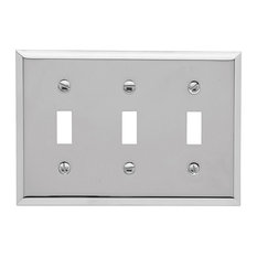 4770260 Triple Toggle Beveled Switch Plate, Bright Chrome