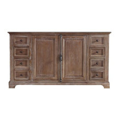 "59"" Providence Double Cabinet, Driftwood, No Top"