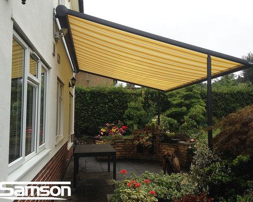 Retractable Fabric Canopies - Pergolas Arbors And Trellises & Retractable Fabric Canopies