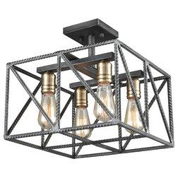 Industrial Flush-mount Ceiling Lighting by Modern Decor Home