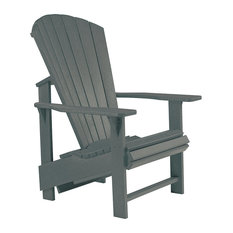 C.R. Plastic Products   Generations Upright Adirondack Chair, Slate   Adirondack  Chairs