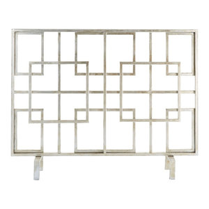 Squares Fire Screen, Antique Finish