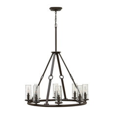 Hinkley Dakota Chandelier Medium Single Tier, Oil Rubbed Bronze