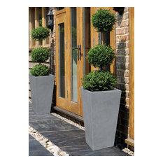 "Modern Square Concrete Outdoor/Indoor Planter, 24""x13"""