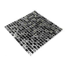 Jet Black - 3-Dimensional Mosaic Decorative Wall Tile(10PC)