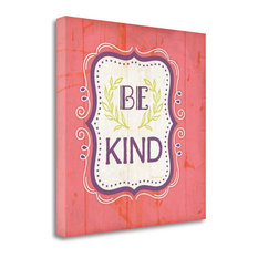 """""""Be Kind - Pink"""" By Jennifer Pugh, Giclee Print on Gallery Wrap Canvas"""