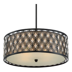 Luxury Art Deco Black Drum Chandelier, UQL2090, Pisa Collection