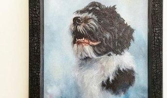 """Cappy"" - Oil Portrait by Artist Donald Voelker (Framed in Larson Juhl/Carbon)"