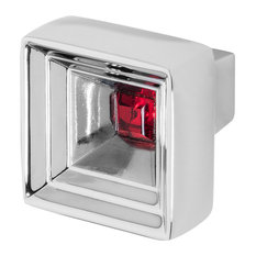 "Hidden Treasure 1-1/16"" Chrome Cabinetry Knob with Crystal by Wisdom Stone, Red"