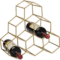 Angular Study Hexagonal Wine Rack
