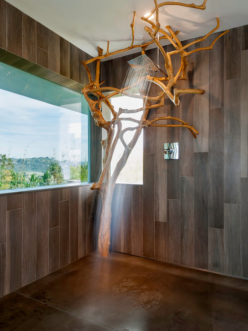 Wood tile shower houzz for Skylights of hawaii llc
