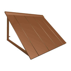 8' Houstonian Metal Standing Seam Awning, Copper
