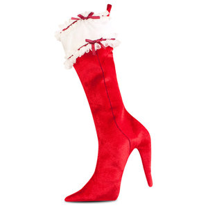 Ho Ho Ho S High Heel Shoe Christmas Stocking Holiday Decoration