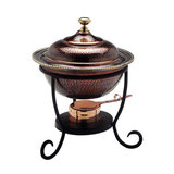 16 Quot X 12 Quot X 19 Quot Oval Antique Copper Over S S Chafing Dish 6