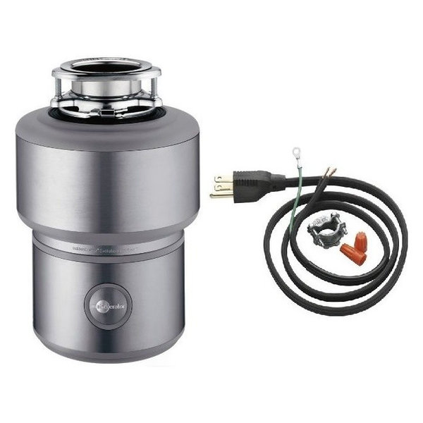 InSinkErator Excel Evolution 1 HP Garbage Disposal - Power Cord Includ