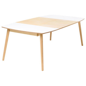 NAM-NAM Extendable Dining Table, Light Oak, Medium