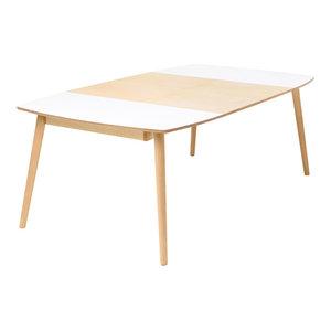 NAM-NAM Extendable Dining Table, Light Oak, Medium