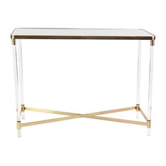 Modern Rectangular Mirrored Console Table