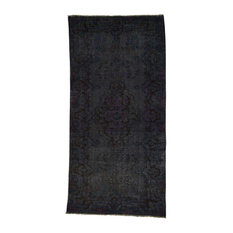 """Persian Overdyed Hamadan Worn Hand-Knotted Wide Runner Rug, 4'10""""x9'10"""""""