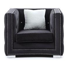 Chair, Black Velvet
