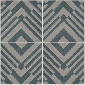 Origami Pattern Tiles, Slate, Set of 12