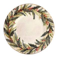 Feba Italia - Holly Ceramic Serving Plate - Christmas Tableware