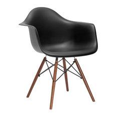 Vortex Arm Chair Walnut Leg, Black