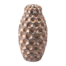 Zuo Decor Ceramic Jar, Bronze