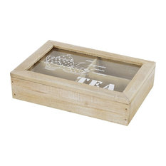 Farmhouse Wooden Tea Box