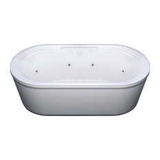 Atlantis Whirlpools Royale 34 x 67 Oval Freestanding Air & Whirlpool Jetted Tub