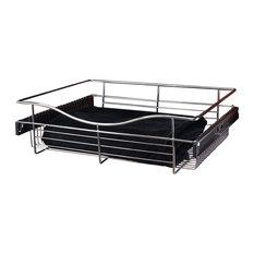 """Rev-A-Shelf Pull-Out Closet Basket 30""""x16""""x7, Chrome"""