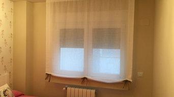 Instalación en vivienda de cortinas