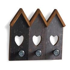 Luna Wood Wall Rack With Ceramic Hooks