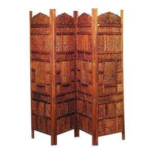 Berit 4-Panel Wood Screen