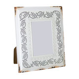 Vintage Rustic White and Grey Picture Frame, 9x13 cm