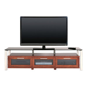 Plateau Silver Tv Stand With Black Glass Walnut 71 By Plateau