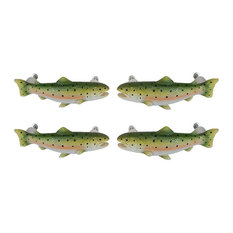 4 Piece Set Rainbow Trout Drawer / Cabinet Door Pulls