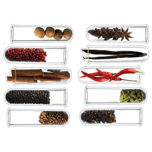 Kitchen Spices Wall Stickers, Set of 3