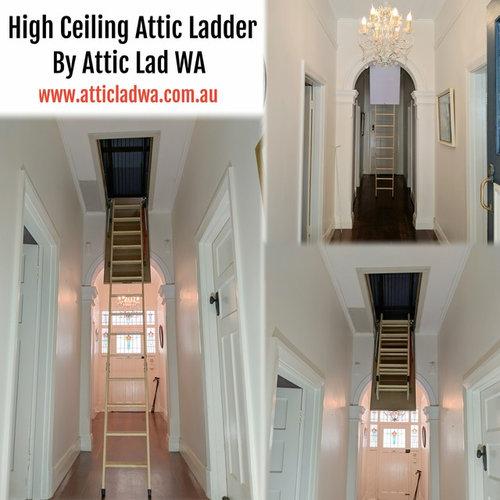 Pull down attic ladder by Attic Lad WA - Storage and Organisation