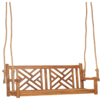 Teak Wood Chippendale Double Outdoor Porch Swing