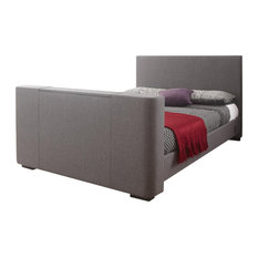 Newark Electric TV Bed, Grey, King