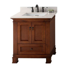 "Ronbow Torino Solid Wood 36"" Vanity Cabinet Base, Colonial Cherry"