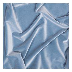 Tribeca Velvet Upholstery Fabric, Blue Jean