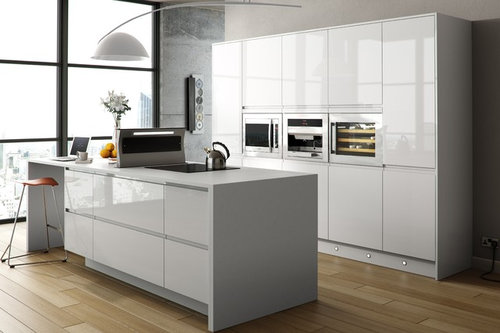 Door Handle Ideas For White Gloss Kitchen