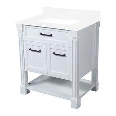 single sink bathroom vanity. Maykke  Delilah Single Sink Bathroom Vanity With Wood Frame White 30 Vanities Houzz