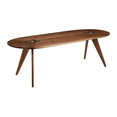 New Breed Furniture Network Oblong Dining Table Walnut 84 X36